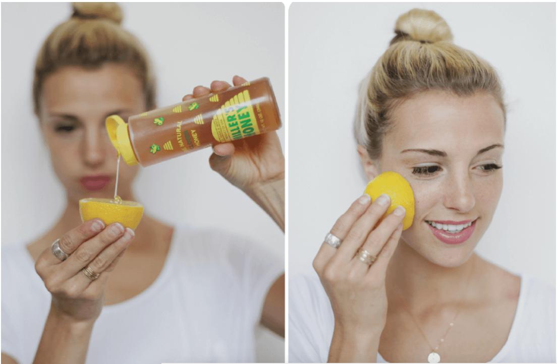 рецепт с мёдом и лимоном против чёрных точек